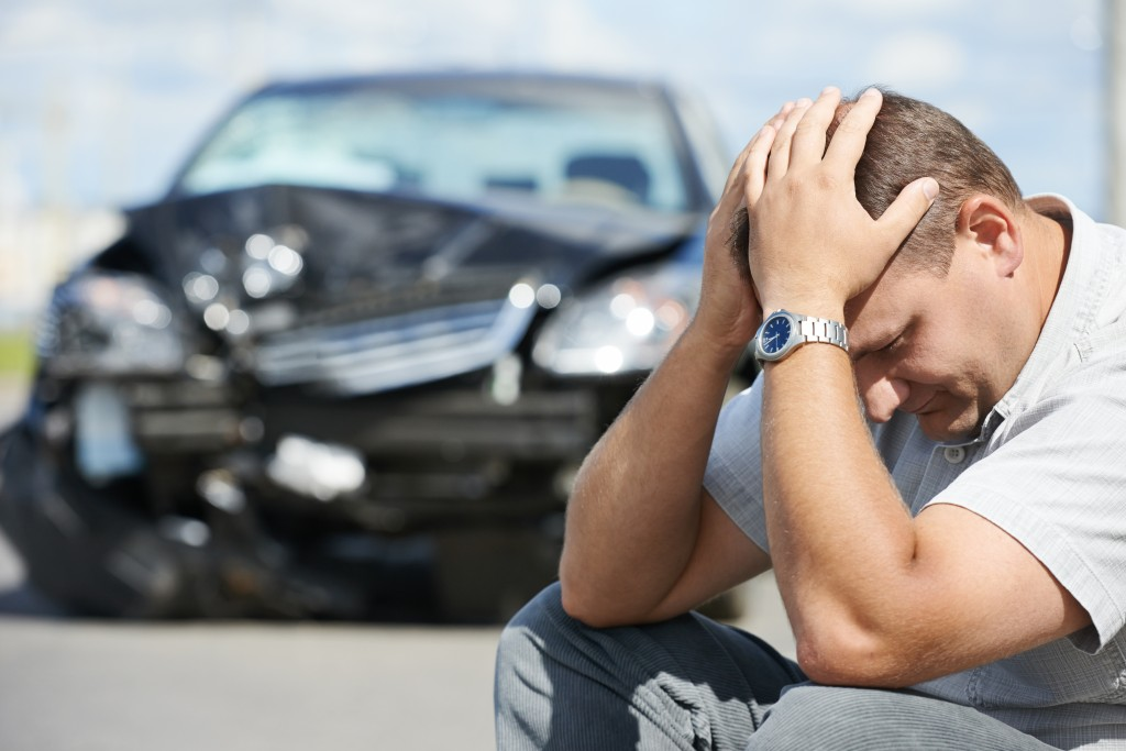 bigstock Adult upset driver man in fron 50086982 1 1024x683 - What Are the Minimum Car Insurance Requirements in Maryland?