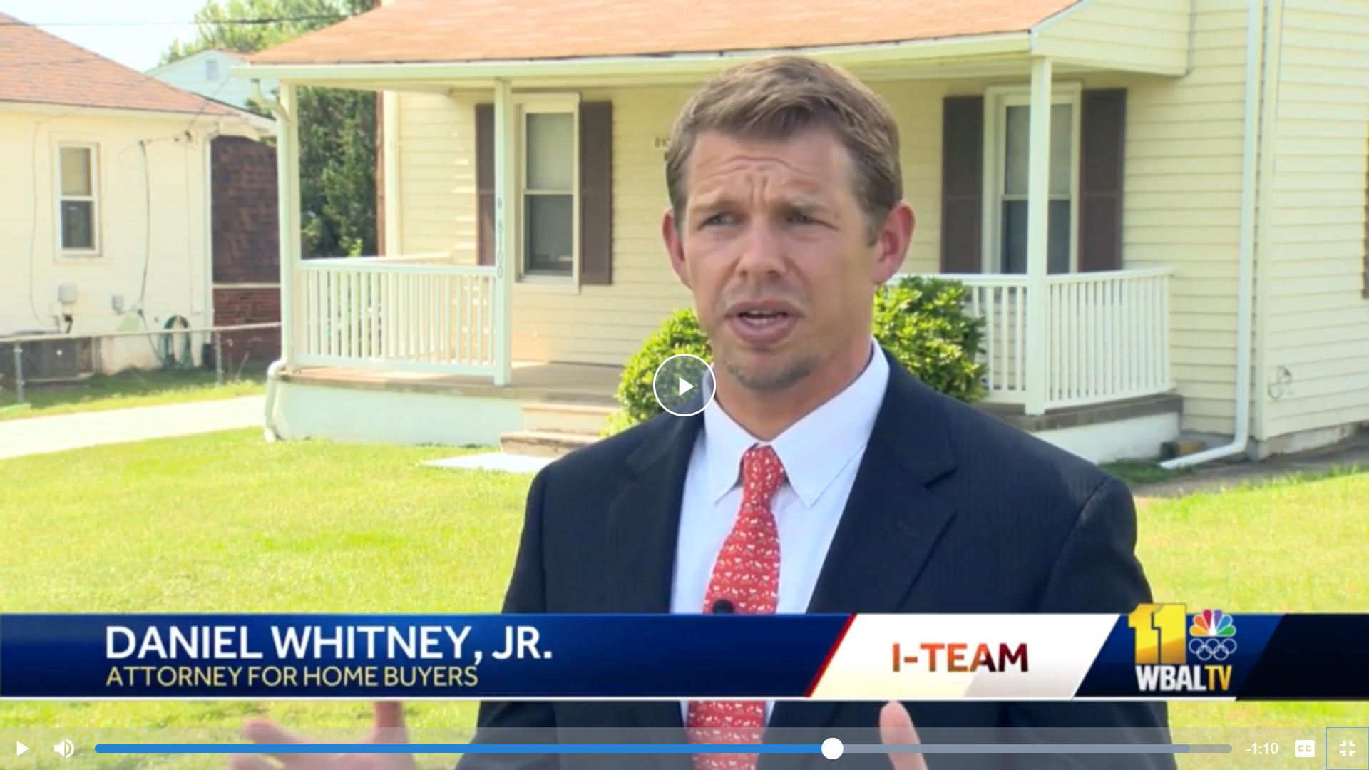 dan whitney wbaltv - Termite Damage Settlement - $215,000 for New Home Buyer