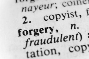 forgery photo - Car Dealership Fraud Attorney for North Bethesda, MD